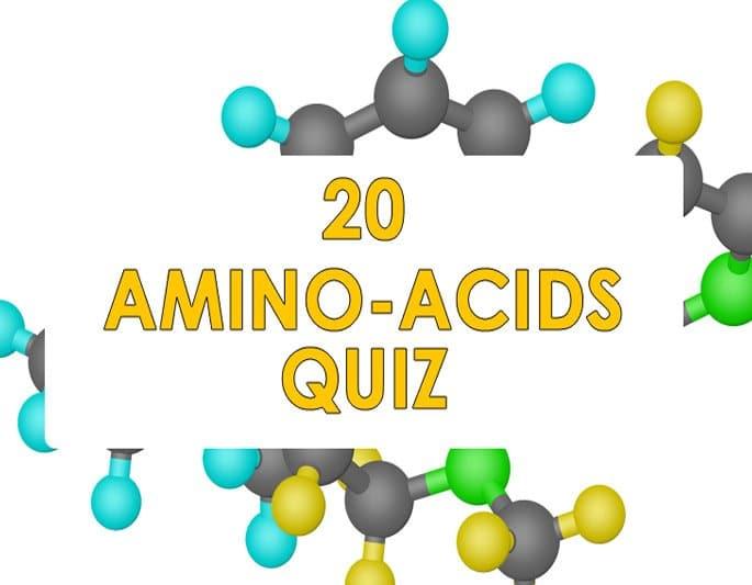 20 amino acids quiz, the best amino acid quiz online
