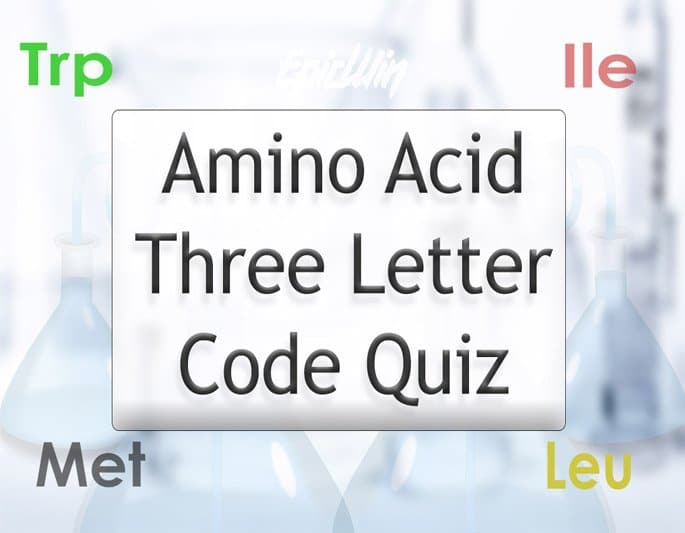 come play our amino 3 letter code quiz