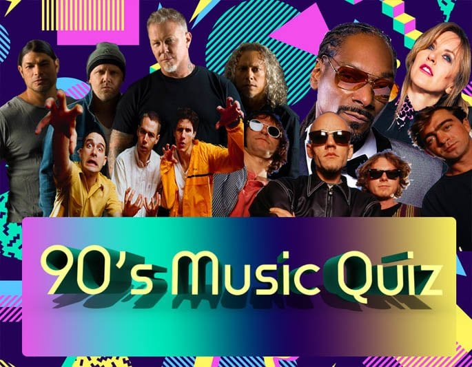 image of our 90s music quiz banner