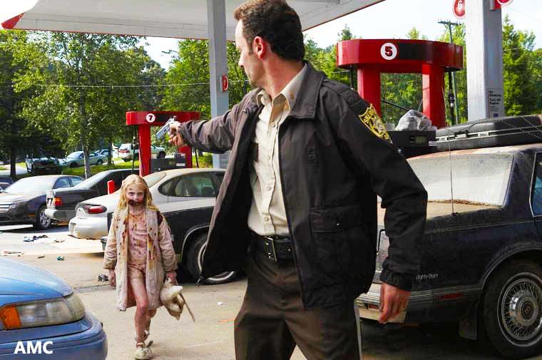 rick and zombie child