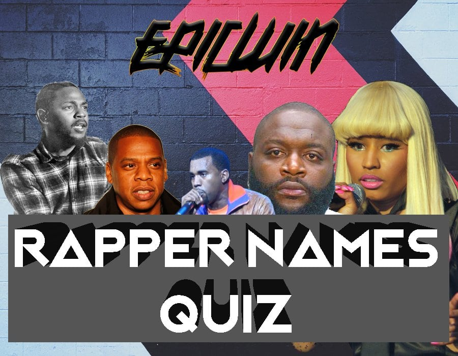 our first ever rapper names quiz