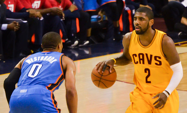 kyrie playing for the cavs