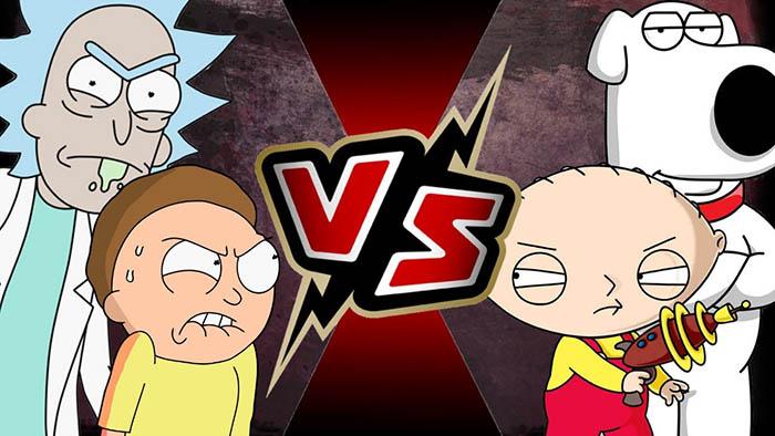 rick and morty vs family guy